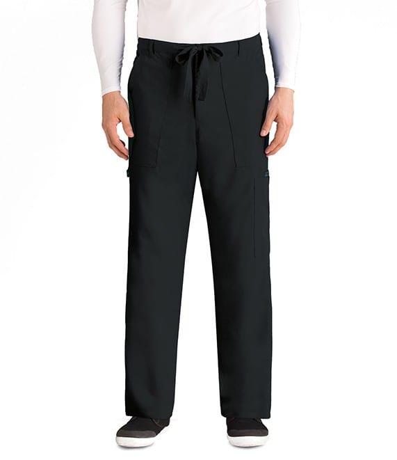 Drawstring Scrub Pants Black