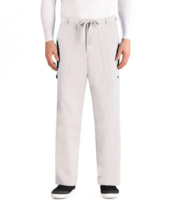 Drawstring Scrub Pants White