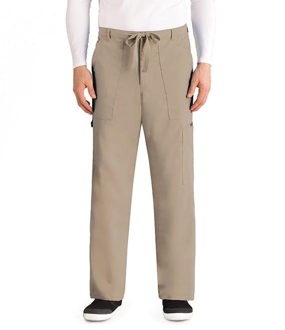 Drawstring Scrub Pants Khaki
