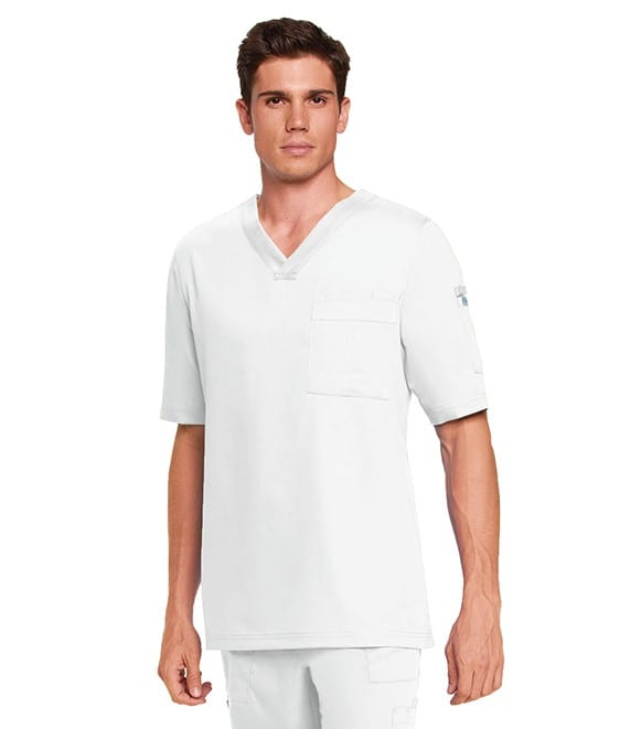 3 Pocket Scrub Top White