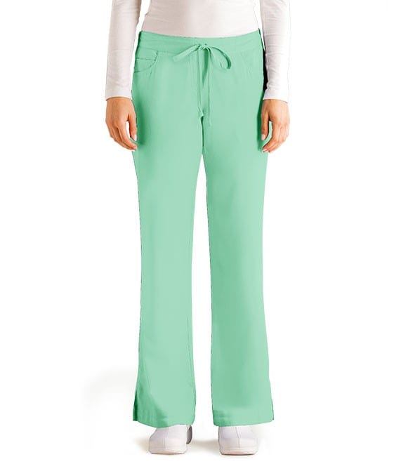 5 Pocket Drawstring Scrub Pant Honey Dew