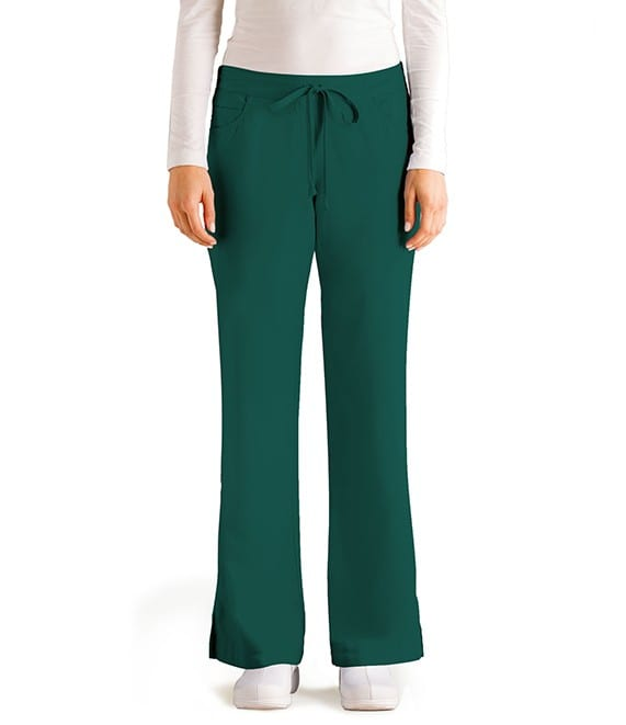 5 Pocket Drawstring Scrub Pant Hunter
