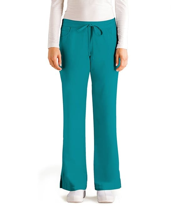5 Pocket Drawstring Scrub Pant Teal
