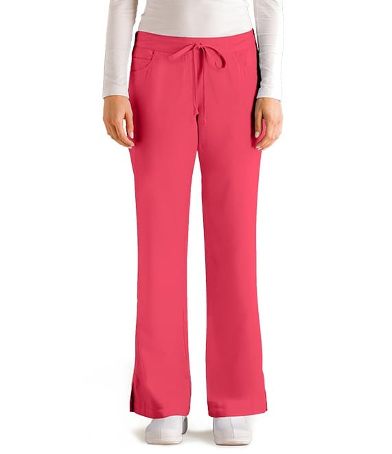 5 Pocket Drawstring Scrub Pant Papaya