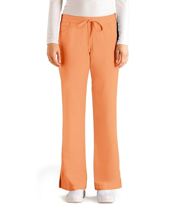 5 Pocket Drawstring Scrub Pant Citrus