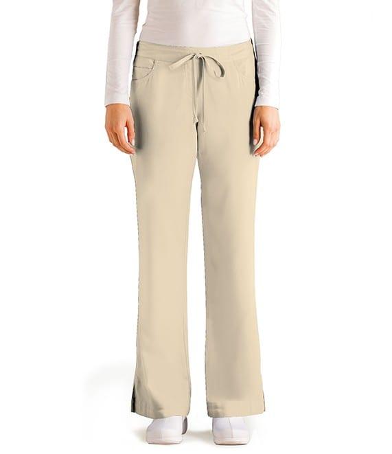 5 Pocket Drawstring Scrub Pant Khaki
