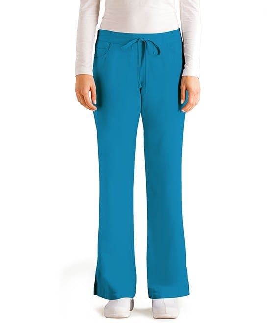 5 Pocket Drawstring Scrub Pant Blueberry