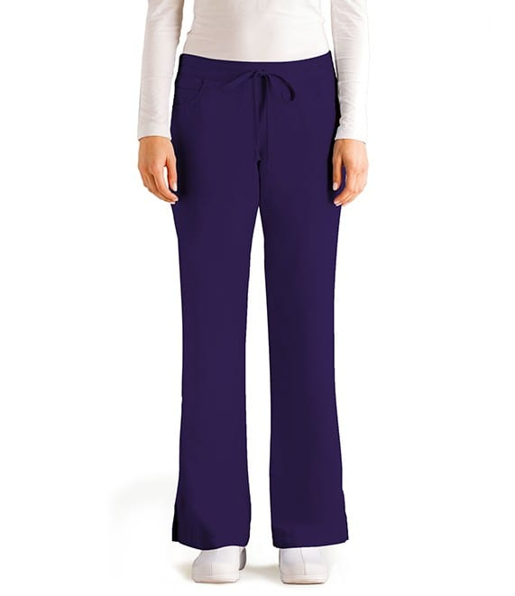 5 Pocket Drawstring Scrub Pant Purple Rain