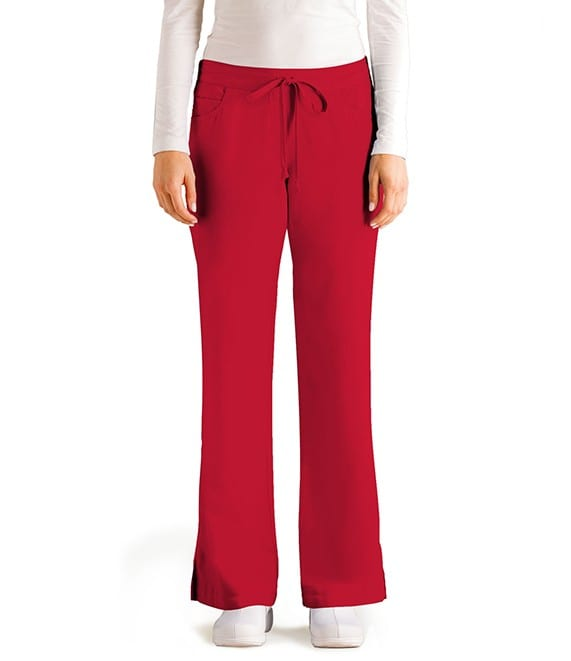 5 Pocket Drawstring Scrub Pant Hot Tamale