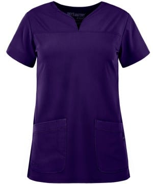 Ladies Yoke Neck Scrub Top Brilliance