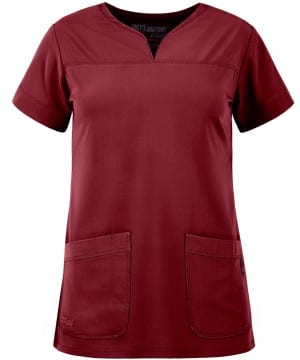 Ladies Yoke Neck Scrub Top Rubiyat