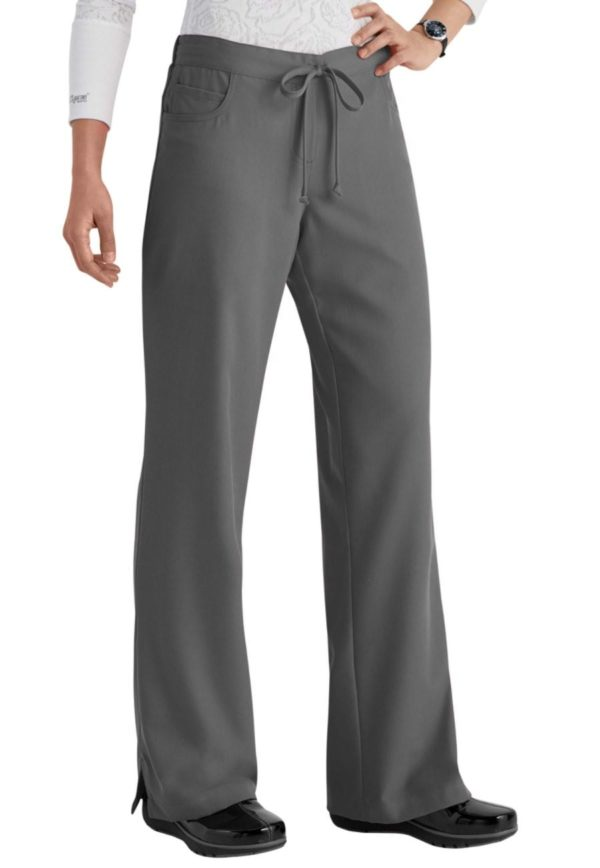 5 Pocket Drawstring Scrub Pant Granite