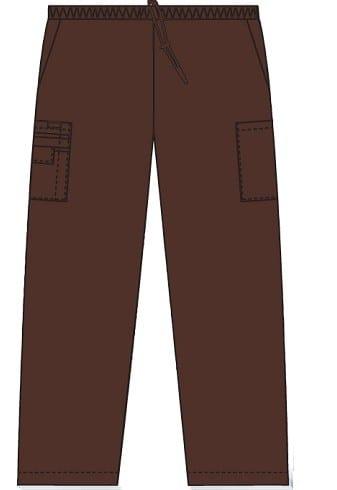 Unisex drawstring 5 pocket scrub pant Cappuccino