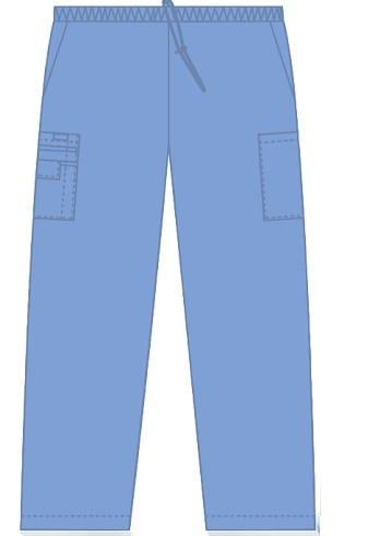 Unisex drawstring 5 pocket scrub pant Ceil
