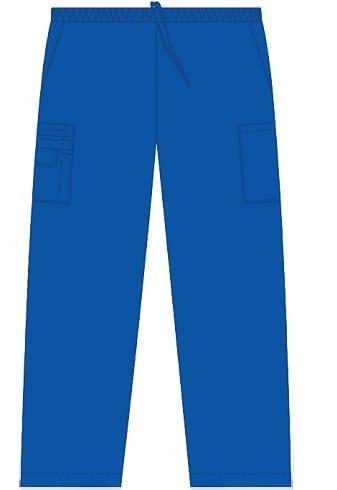 Unisex drawstring 5 pocket scrub pant royal