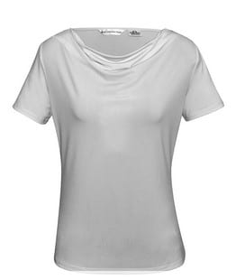 Ladies Ava drape knit top Silver