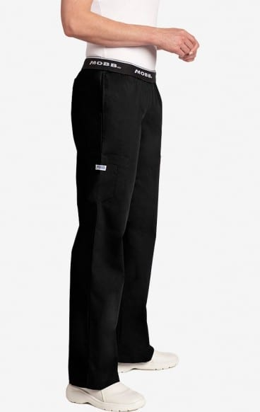Boot Cut Flip Flap Scrub Pant Black