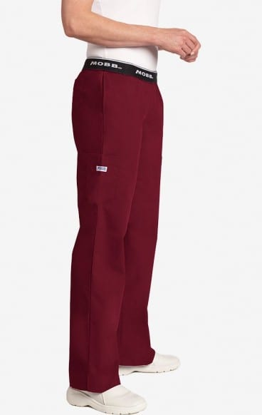Boot Cut Flip Flap Scrub Pant Burgundy
