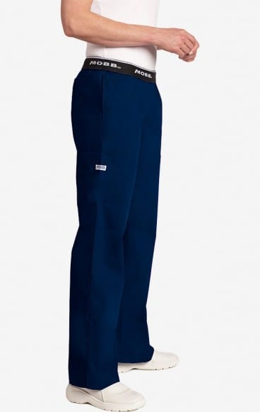 Boot Cut Flip Flap Scrub Pant Navy