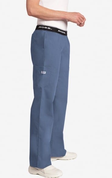 Boot Cut Flip Flap Scrub Pant Postman Blue