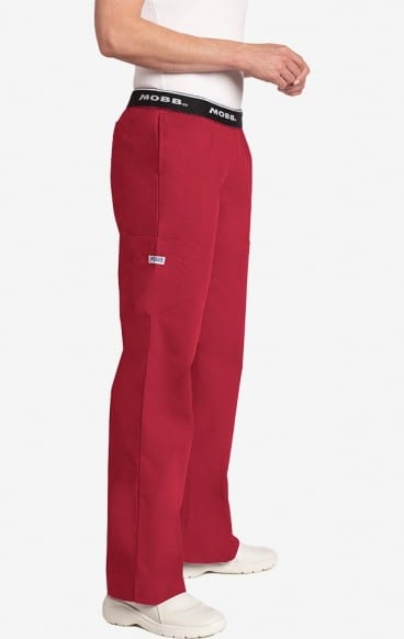 Boot Cut Flip Flap Scrub Pant Raspberry