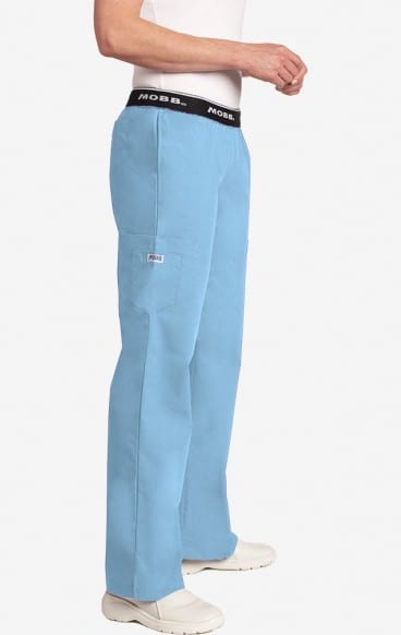 Boot Cut Flip Flap Scrub Pant Sky Blue