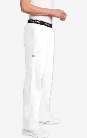 Boot Cut Flip Flap Scrub Pant White