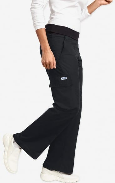 Ladies Flexi Waist Scrub Pant Black