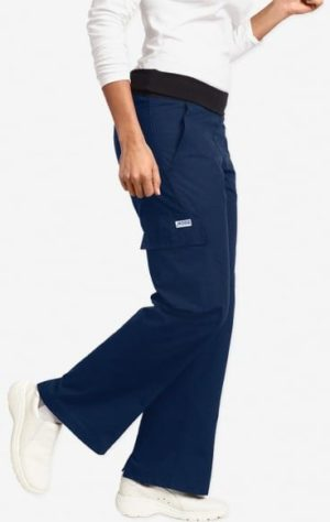 Ladies Flexi Waist Scrub Pant Navy