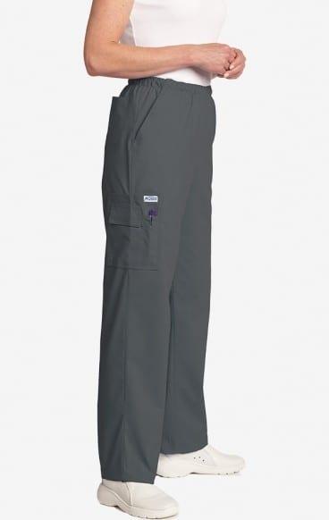 Unisex drawstring 5 pocket scrub pant charcoal