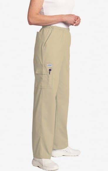 Unisex drawstring 5 pocket scrub pant khaki