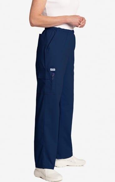 Unisex drawstring 5 pocket scrub pant navy