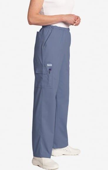Unisex drawstring 5 pocket scrub pant postman blue