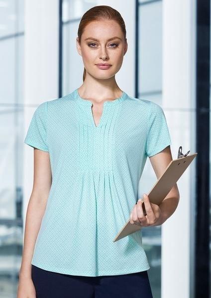 Advatex Ladies Ella Diamond Pleat Knit Top