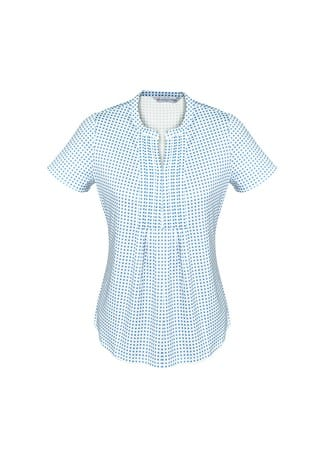 Advatex Ladies Sandy Linear Pleat Knit Top Delta Blue