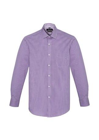 Newport Mens Long Sleeve Shirt Purple Reign