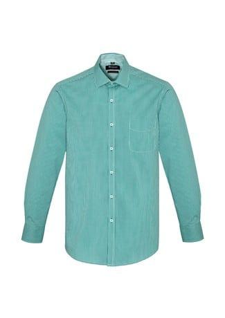 Newport Mens Long Sleeve Shirt Eden Green