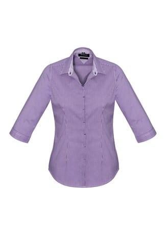 Newport Ladies 3/4 Sleeve Shirt Purple Reign