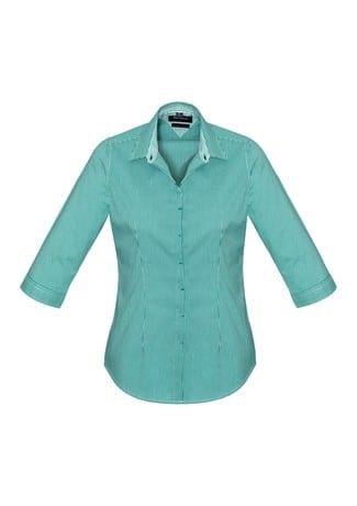 Newport Ladies 3/4 Sleeve Shirt Eden Green