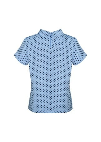 Lila Ladies Short Sleeve Top Blue back