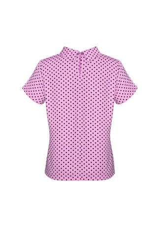 Lila Ladies Short Sleeve Top Pink back