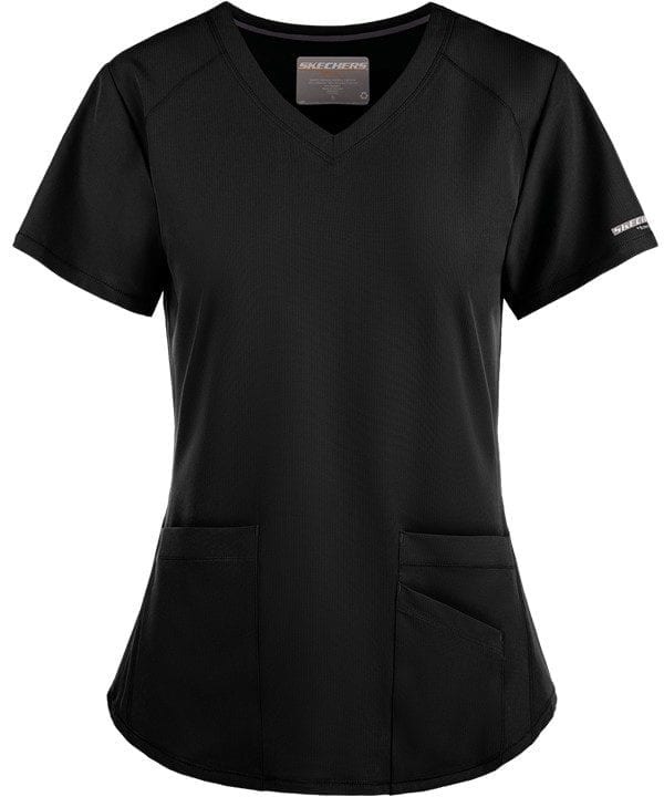 Vitality Scrub Top Black
