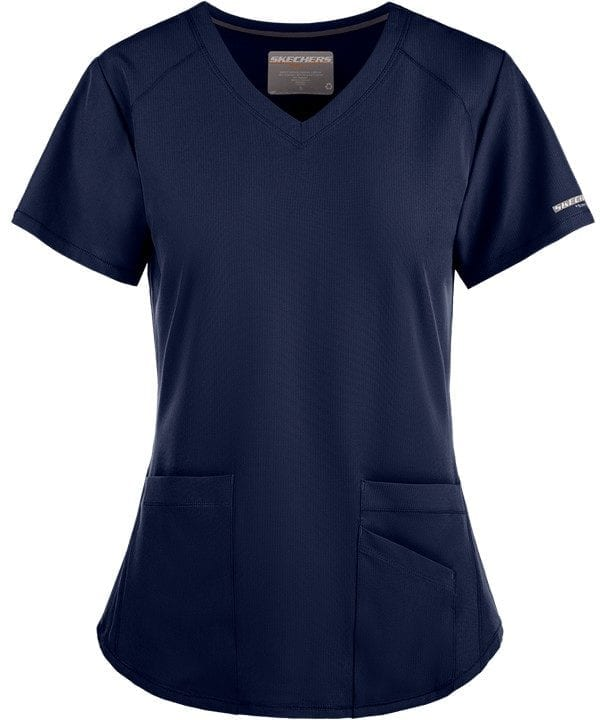 Vitality Scrub Top Navy