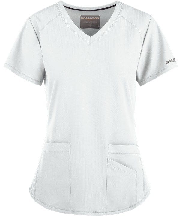 Vitality Scrub Top White