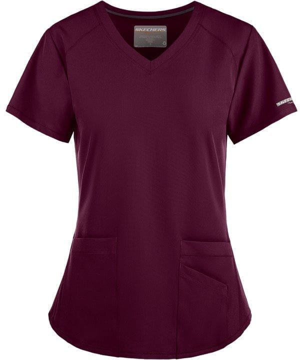 Vitality Scrub Top Wine