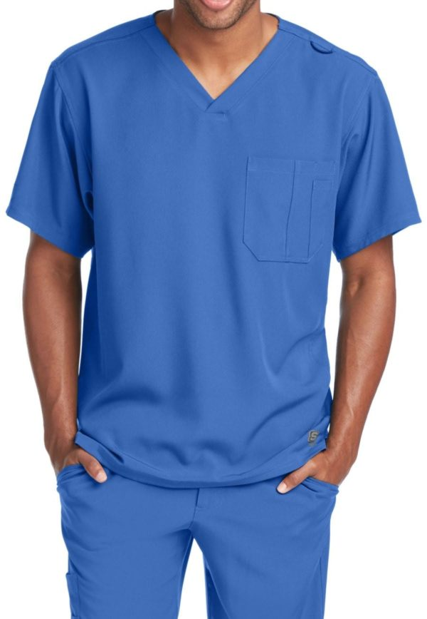 Structure Scrub Top New Royal