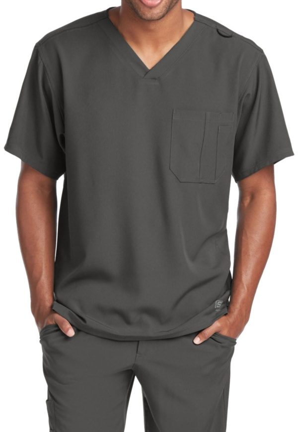 Structure Scrub Top Pewter