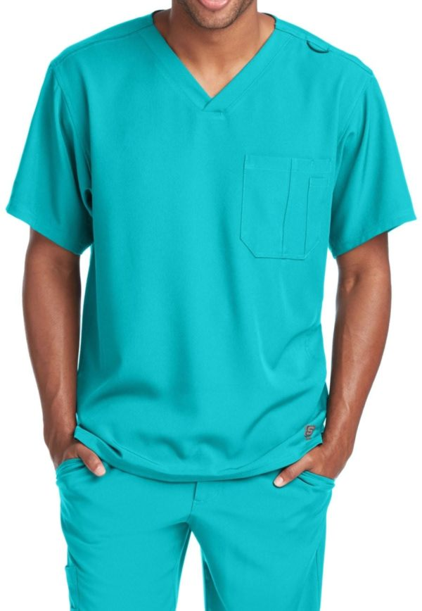 Structure Scrub Top Teal