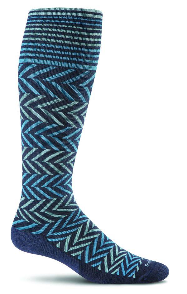 Sockwell Chevron Sock Navy