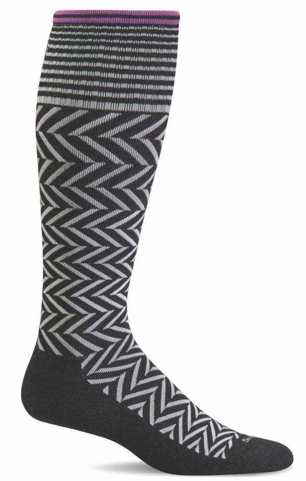 Sockwell Chevron Sock Black